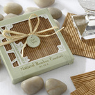 "Kate Aspen ""Natural Bamboo Eco-Friendly Coaster Favors (Four Coasters per Favor!) """
