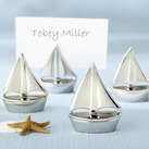 """""Shining Sails"" Silver Place Card Holders (Set of 4)"""