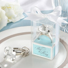 """""With This Ring"" Engagement Ring Keychain in Blue Gift Box"""