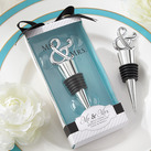 "Kate Aspen """"Mr. & Mrs."" Chrome Ampersand Bottle Stopper"""