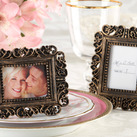 "Kate Aspen """"Ornate"" Antique Gold Place Card Holder/Bomboniere Photo Frame"""