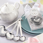 """""Love Beyond Measure"" Stainless-Steel Measuring Spoons Baby Shower Favors"""
