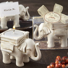 "Kate Aspen """"Lucky Elephant"" Antique Ivory-Finish Tea Light Holder"""
