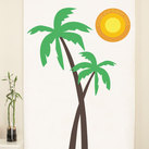 """Palm Trees Banner Personalised Photo Backdrop"""