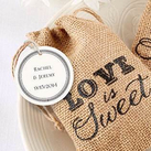 Love is Sweet Burlap Bag Matching Tag