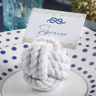 "Kate Aspen ""Nautical Cotton Rope Place Card Holder (Set of 6)"""