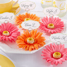 """""Petal Pretty"" Gerbera Daisy Place Card/Photo Holder (Set of 6)"""