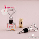 """""Fused In Love"" Double Heart Wine Stopper In Gift Packaging"""