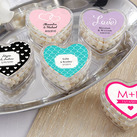 """Personalised Heart Favor Container-Wedding Design (set of 12)"""