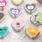 """Personalised ""Mint For You"" Heart-Shaped Mint Tin - Wedding """