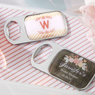 """Personalized Bottle Opener with Epoxy Dome - Kate's Rustic Bridal Shower Collection """