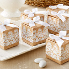 """""Rustic & Lace"" Kraft Favor Box (Set of 24)"""