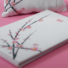 """Cherry Blossom Traditional Guest Book"""