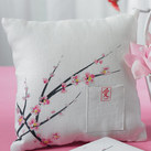 """Cherry Blossom Square Ring Pillow"""