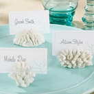 "(Set of 6) ""Seven Seas"" Coral Place Card/Photo Holder"