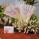 """Beach Fan with Delightful Underwater Seascape (set of 6)"""