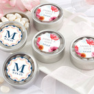 Personalised Silver Round Candy Tin - Botanical (set of 12)