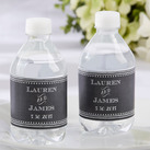 Personalised Water Bottle Labels - Chalk