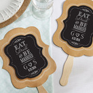(Set of 12) Personalised Kraft Fan - Eat, Drink & Be Married