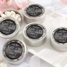 (Set of 12) Personalised Silver Round Candy Tin - Eat, Drink & Be Married