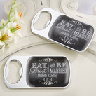 Personalised Silver Bottle Opener with Epoxy Dome - Eat, Drink & Be Married