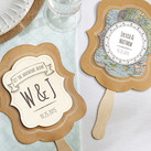(Set of 12)  Personalised Kraft Fan - Travel and Adventure