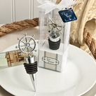 Ship's wheel design wine bottle stoppers