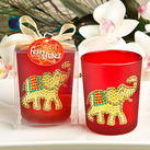 Ruby Red Good Luck Elephant Votive Candle Holder