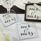 Classic Mr. and Mrs. Coasters (Set of 2)