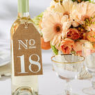 Burlap Table Numbers (13-18)