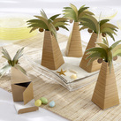 "Kate Aspen ""Palm Tree Favour Box with Multi-dimensional Detail (Set of 24) """
