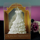 """A Perfect Reflection - Wedding Dress Mini Candle (set of 6)"""