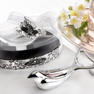 "Kate Aspen ""The ""Love Dove"" Chrome Bottle Opener in Elegant, Oval Showcase Giftbox """