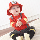 """Big Dreamzzz"" Baby Firefighter Two-Piece Layette Set in Firefighter-themed Baby Gift Box"