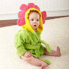 """Showers and Flowers"" Hooded Spa Robe Baby Gift"