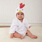 """Barnyard Bathtime"" Chicken Hooded Spa Robe Baby Gift"