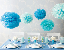 """Martha Stewart Blue Pom Poms set"""