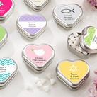 """Personalised ""Mint For You"" Heart-Shaped Mint Tin - Christening Gifts """