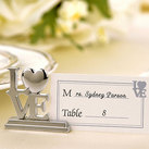 "Kate Aspen """"LOVE"" Place Card Holder/Photo Holder with Matching Place Cards (Set of 4) """