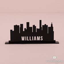 Personalised Industrial Cityscape Black Acrylic Sign