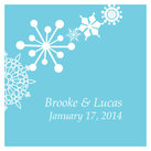"""Personalised Square Winter Finery Wedding Favour Tag (set of 20)"""