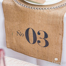 Burlap Chic Personalised Burlap Table Runner
