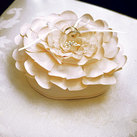 """Sensational Floral Wedding Ring Bearer Pillow"""