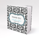 """Notepad Favour with Personalised Love Bird Damask Cover (Set of 12)"""