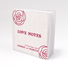 """Notepad Favour with Personalised Rose Cover (Set of 12)"""
