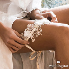 Embroidered Appliqué Bridal Garters