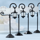 "Kate Aspen ""Bourbon Street"" Streetlight Place Card Holder with Coordinating Place Cards (Set of 4)"