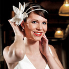 Single Champagne Fantasy Bloom Floral Wedding Hair Accessories