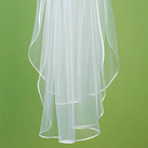Simply Elegant Wedding Veil With Satin Ribbon Edge