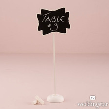 Decorative Chalkboard Wedding Signs With Stand - Medium
